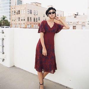 Maeve Francoise Embroidered Dress
